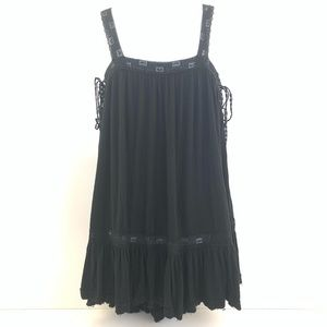 Free People Tank Side Tie Up Tent Shift Dress